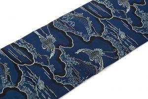 城間栄喜作琉球紅型藍染袋帯のサブ1画像