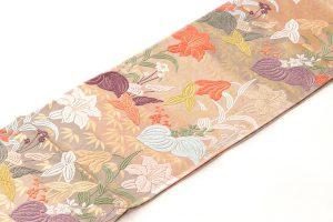 山口織物製 唐織袋帯地 「百合水草文」のサブ1画像