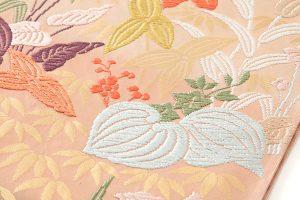 山口織物製 唐織袋帯地 「百合水草文」のサブ2画像