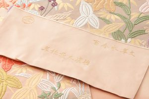 山口織物製 唐織袋帯地 「百合水草文」のサブ3画像