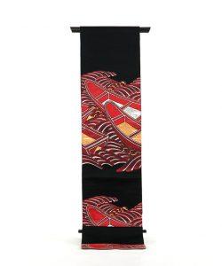 龍村平蔵製 袋帯「堆赤小船錦」のメイン画像