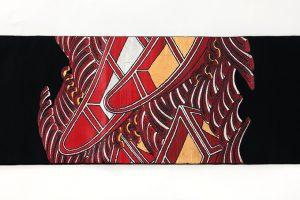 龍村平蔵製 袋帯「堆赤小船錦」のサブ4画像