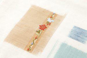 志村洋子作 九寸帯 「花吹き寄せ」のサブ2画像