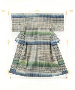 志村ふくみ作 紬着物「翠影」のメイン画像