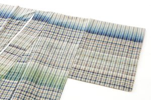 人間国宝 志村ふくみ作 紬着物「翠影」のサブ1画像