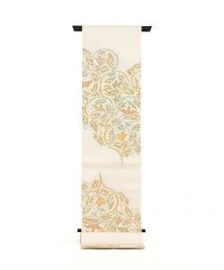 龍村平蔵製 袋帯「重行地紙文」のメイン画像