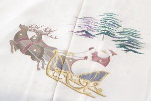 宮野勇造作 本加賀友禅長コート地 「メリークリスマス」のサブ1画像