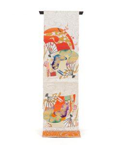 龍村平蔵製 丸帯「福壽氷紈錦」のメイン画像
