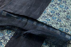 宮古上布 藍型染着物地のサブ4画像