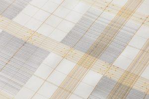 深石美穂作 川平織九寸名古屋帯 「角絣格子」のサブ2画像