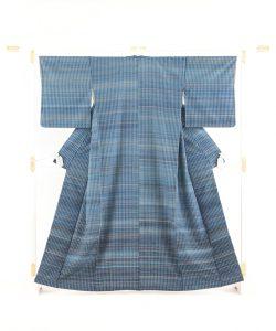 人間国宝 志村ふくみ作 紬着物「波の響き」のメイン画像