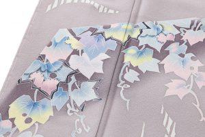 毎田健治作 本加賀友禅色留袖「薫風・蔦」のサブ3画像