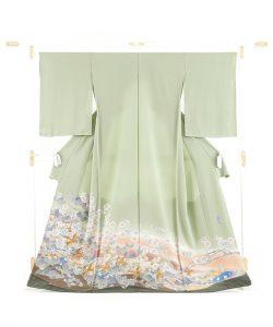 百貫華峰作 本加賀友禅色留袖「松梅に鳩飛ぶ」のメイン画像