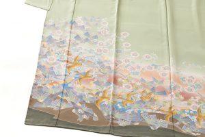 百貫華峰作 本加賀友禅色留袖「松梅に鳩飛ぶ」のサブ1画像