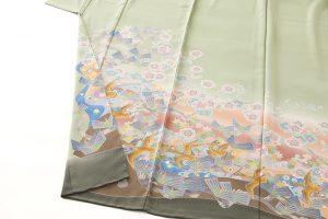 百貫華峰作 本加賀友禅色留袖「松梅に鳩飛ぶ」のサブ2画像