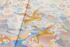 百貫華峰作 本加賀友禅色留袖「松梅に鳩飛ぶ」のサブ3画像