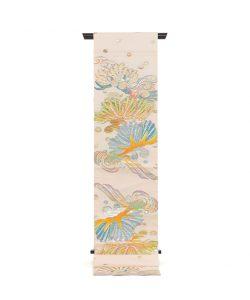 龍村平蔵製 袋帯「彩彫寿松錦」のメイン画像