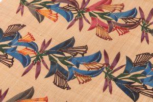人間国宝 玉那覇有公作 琉球紅型染芭蕉布名古屋帯地のサブ2画像