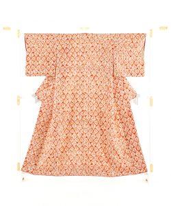 茜染 紬着物のメイン画像