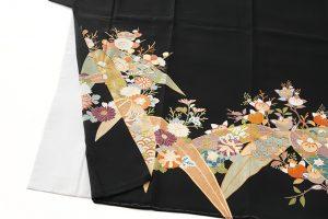 東京染繍大彦謹製 留袖「梅橘に笹」のサブ2画像