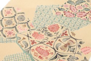 工芸きもの野口製 縮緬地小紋着尺のサブ1画像