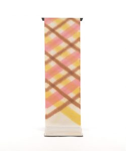 池田リサ作 浮花織板締絣九寸名古屋帯のメイン画像