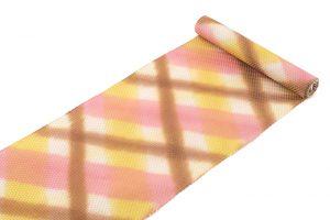池田リサ作 浮花織板締絣九寸名古屋帯のサブ1画像