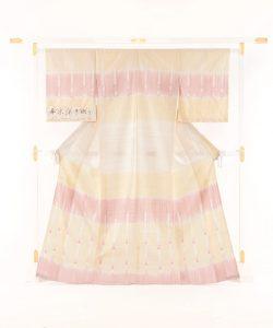 永田いすず作 草木染手織り紬地 「宴のあと」のメイン画像