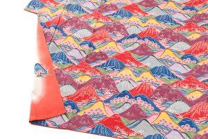 城間栄喜作 琉球本紅型振袖「春の島景文様」のサブ3画像