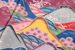 城間栄喜作 琉球本紅型振袖「春の島景文様」のサブ4画像