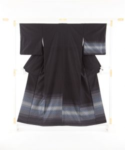 米須幸代作 首里花織紬訪問着のメイン画像
