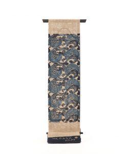 出羽の織座製 正藍型染からむし八寸帯地のメイン画像