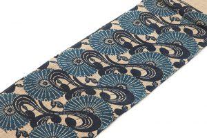 出羽の織座製 正藍型染からむし八寸帯地のサブ1画像