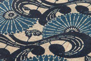 出羽の織座製 正藍型染からむし八寸帯地のサブ2画像