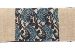 出羽の織座製 正藍型染からむし八寸帯地のサブ3画像