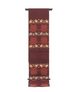 龍村平蔵製 袋帯「羊花堆朱錦」のメイン画像