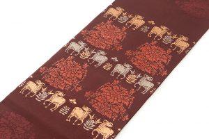 龍村平蔵製 袋帯「羊花堆朱錦」のサブ1画像
