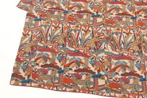 山岡古都作 草木染琉染紅型小紋のサブ2画像