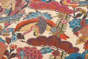 山岡古都作 草木染琉染紅型小紋のサブ4画像
