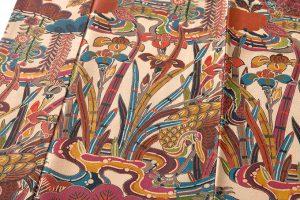 山岡古都作 草木染琉染紅型小紋のサブ5画像