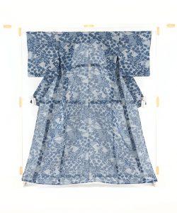越後上布 本藍染め着物のメイン画像