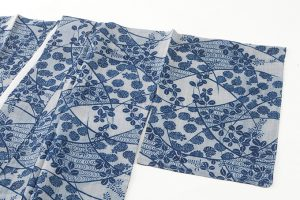 越後上布 本藍染め着物のサブ1画像