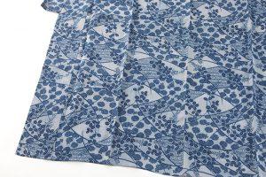 越後上布 本藍染め着物のサブ2画像