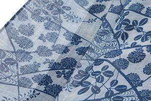 越後上布 本藍染め着物のサブ3画像