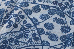 越後上布 本藍染め着物のサブ4画像