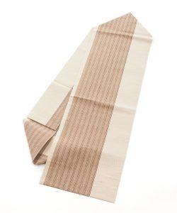 出羽の織座謹製 紙布八寸名古屋帯のメイン画像