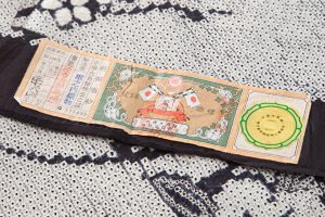 大島紬地本疋田絞り着物 のサブ5画像