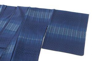 秋山眞和作 藍染綾の手花織紬のサブ1画像