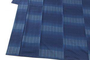 秋山眞和作 藍染綾の手花織紬のサブ2画像