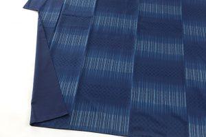 秋山眞和作 藍染綾の手花織紬のサブ3画像